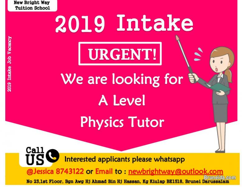 Picture of (Urgent) Physics Tutors Job Vacancies for Intake 2019