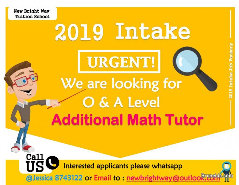 Pictures of Tuition Tutors Job Vacancies for Intake 2019