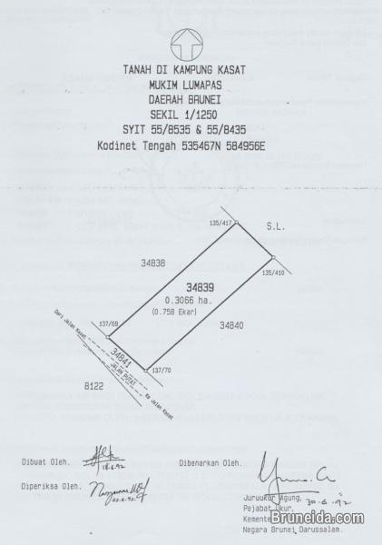 Picture of 0. 758 acre Land for Sale @ Kampong Kasat, Mukim Lumapas