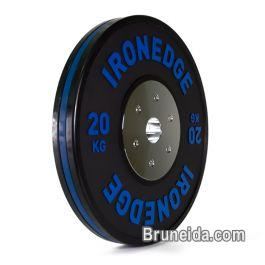 olympic bumper plates and barbell