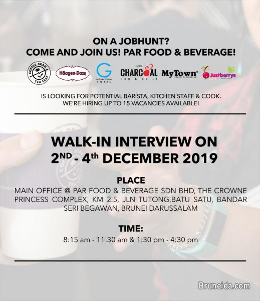 Picture of WALK IN INTERVIEW - PAR & FOOD BEVERAGE