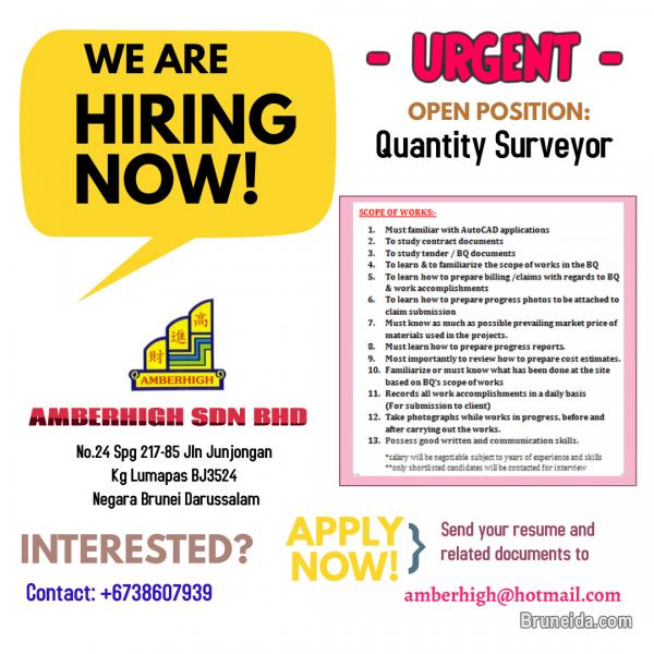 Pictures of Quantity Surveyor - Urgent