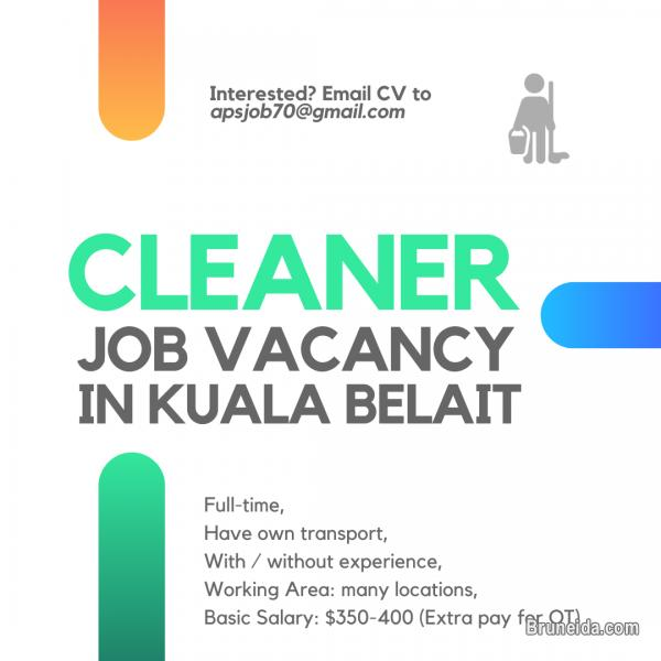 Picture of Immediate Vacancy for Cleaner/Pembersih