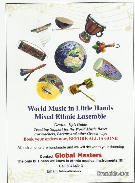 Pictures of WORLD MUSIC IN BOX FOR LITTLE HANDS and other musical instruments