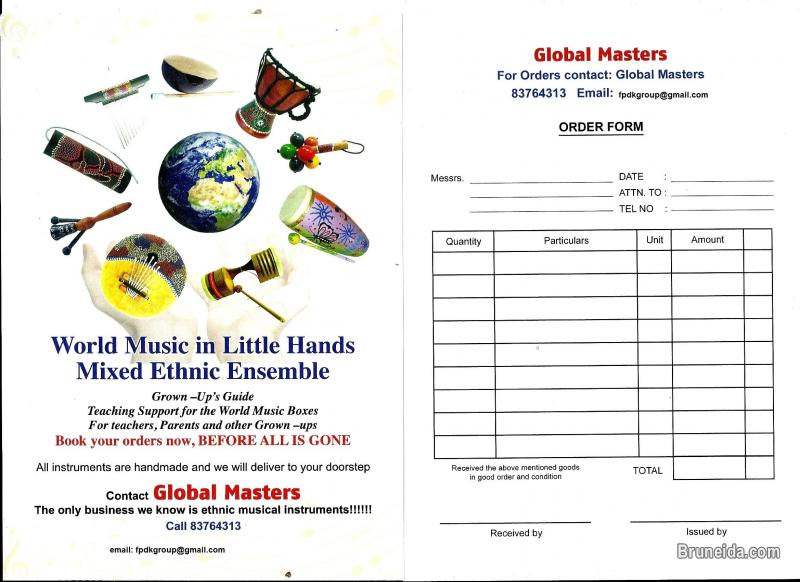 WORLD MUSIC IN BOX FOR LITTLE HANDS and other musical instruments