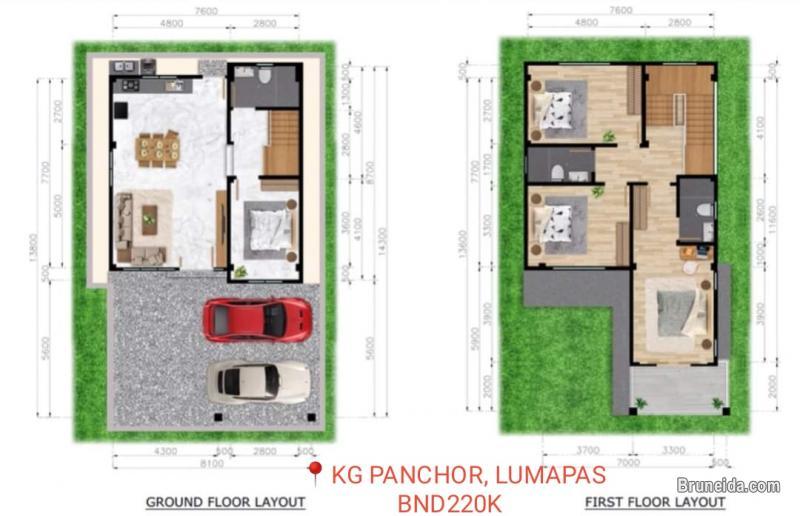 PROPOSED 2 STOREY DETACHED HOUSE FOR SALE AT KG PANCHOR, LUMAPAS in Brunei Muara