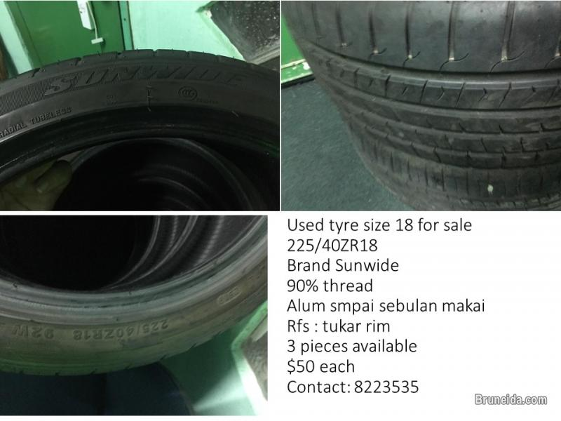 Picture of Used tyre size 18 for sale