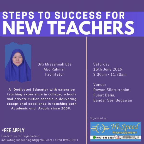 Steps to success for new teachers workshop in Brunei Muara