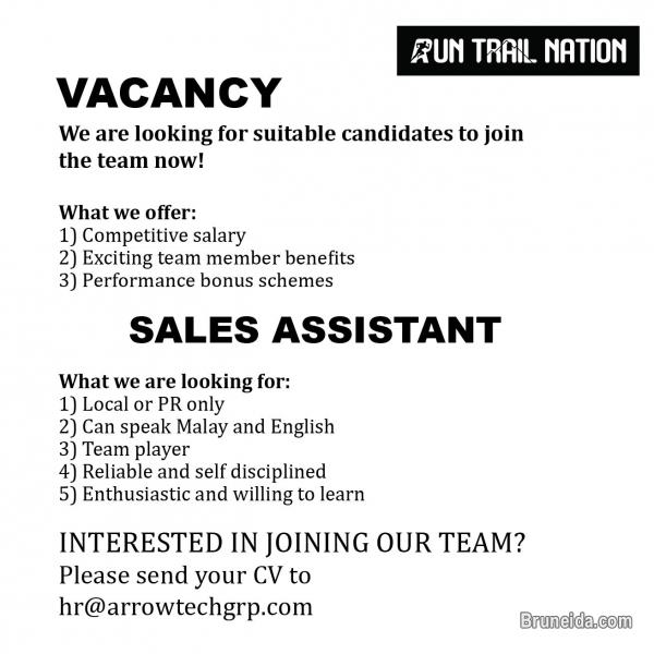 Picture of Sales Assistant- Run Trail Nation OneRiverside Gadong
