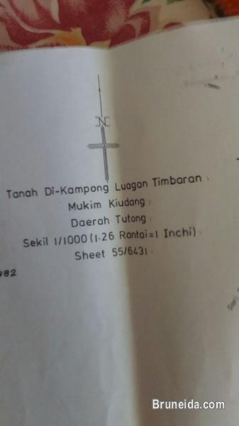 Tanah 0. 95 ekar (kekal) di Kpg Luagan Timbaran, Tutong utk dijua