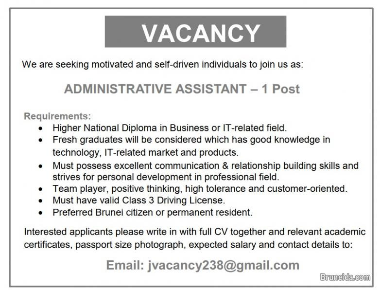 Picture of Vacancy - Administrative Assistant