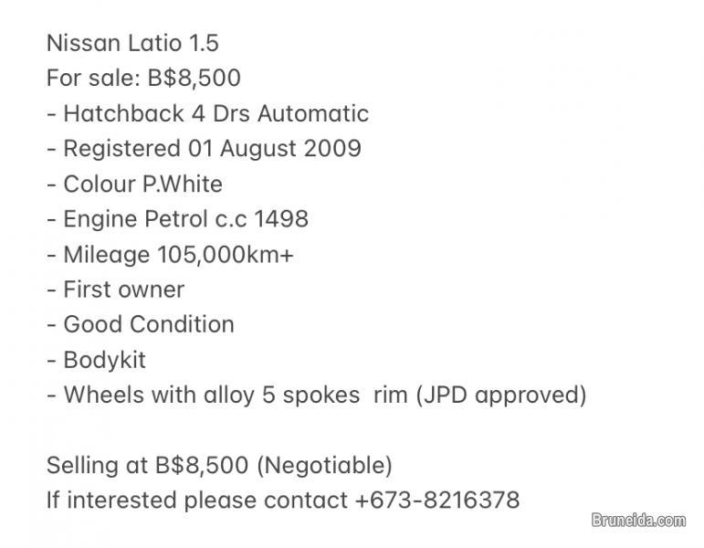 Nissan Latio 1. 5 - image 11