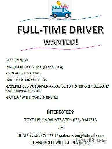 Picture of Full time van driver wanted