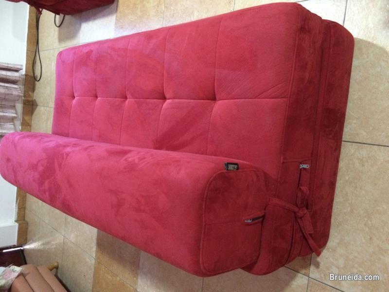 Folding 3 piece fabric sofa set for sale