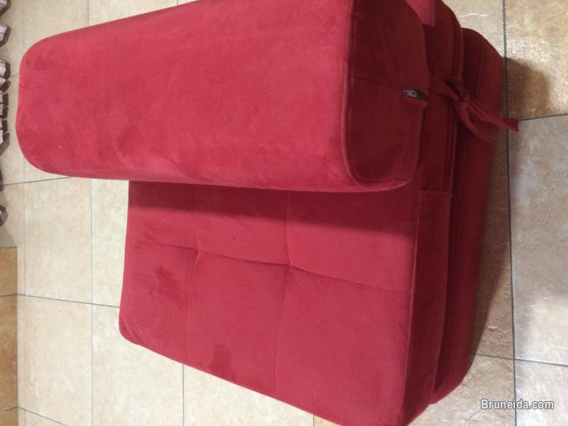 Folding 3 piece fabric sofa set for sale in Brunei