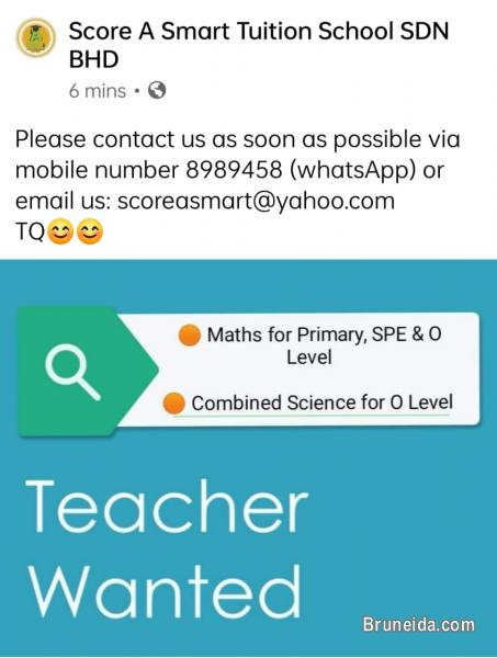 Picture of We are looking for teachers