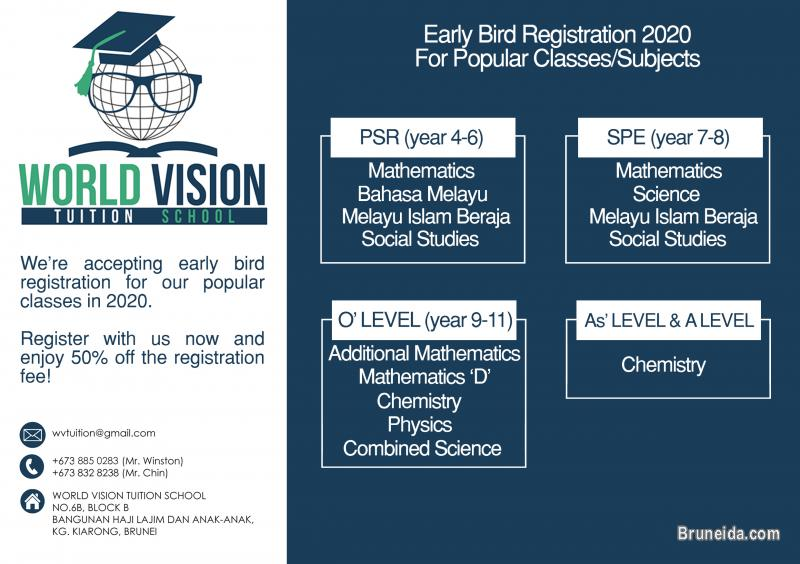 Picture of WORLD VISION TUITION SCHOOL 2020 REGISTRATION